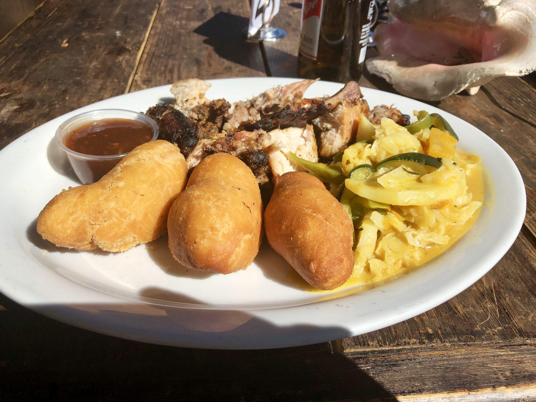 Jamaican Jerk Chicken and Festival Fry Dumplings